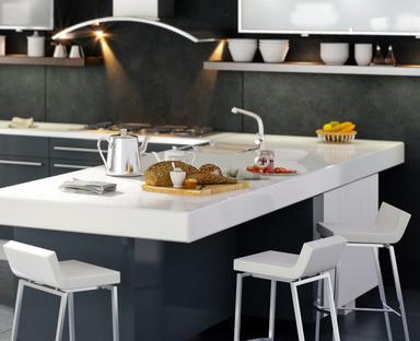 Moderne puristische kuche