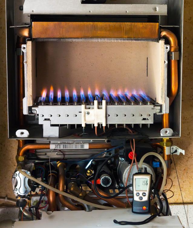 Calentador de gas propano - Caldera no calienta agua si calefaccion ...