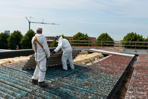 Asbestsanierung für eine Photovoltaik Anlage