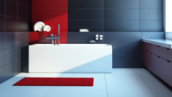 Passend zum restlichen Design sind Badezimmer Garnituren alles andere als konventionell.