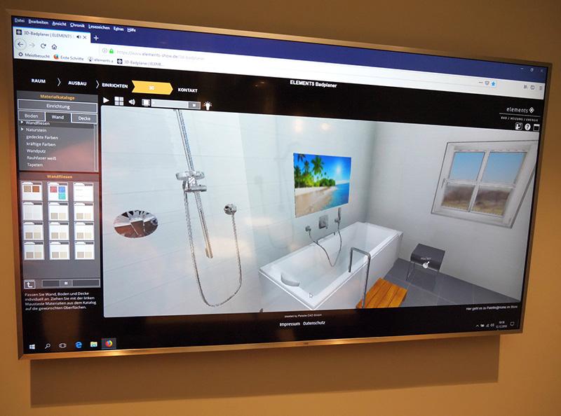 Mit dem 3D Badplaner von ELEMENTS werden aus ersten Ideen bereits konkrete Entwürfe, ganz einfach von Zuhause aus.