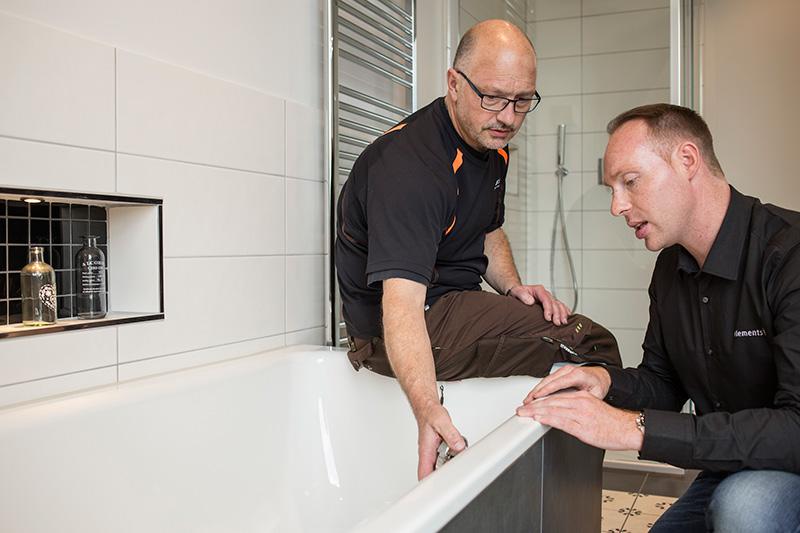 Die Zusammenarbeit mit dem Fachhandwerk zeichnet die Badezimmerplanung mit ELEMENTS aus.