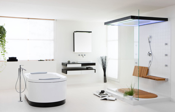 badewanne materialien acryl stahl emaille holz mineralguss glas. Black Bedroom Furniture Sets. Home Design Ideas