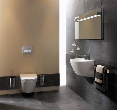 Wand-WC und Waschbecken aus einem Design von Keramag by Hadi Teherani