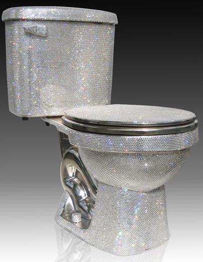 Extravagantes Luxus-WC in Disko-Optik
