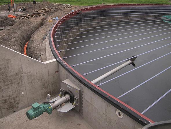 Biogasanlage Fermenter