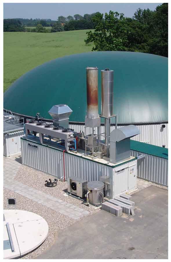 Blockheizkraftwerk Biogasanlage
