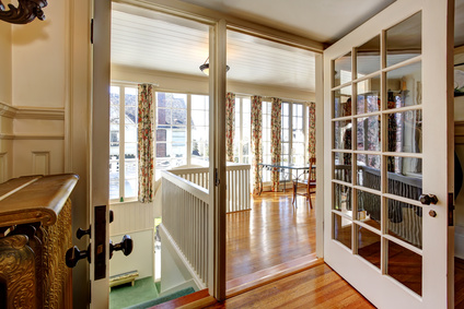 Master Bedrooms Often Have French Glass Interior Doors With Frosted Glass  Or Gauzy Curtains To Separate The Sleeping Space From The Master Bathroom.