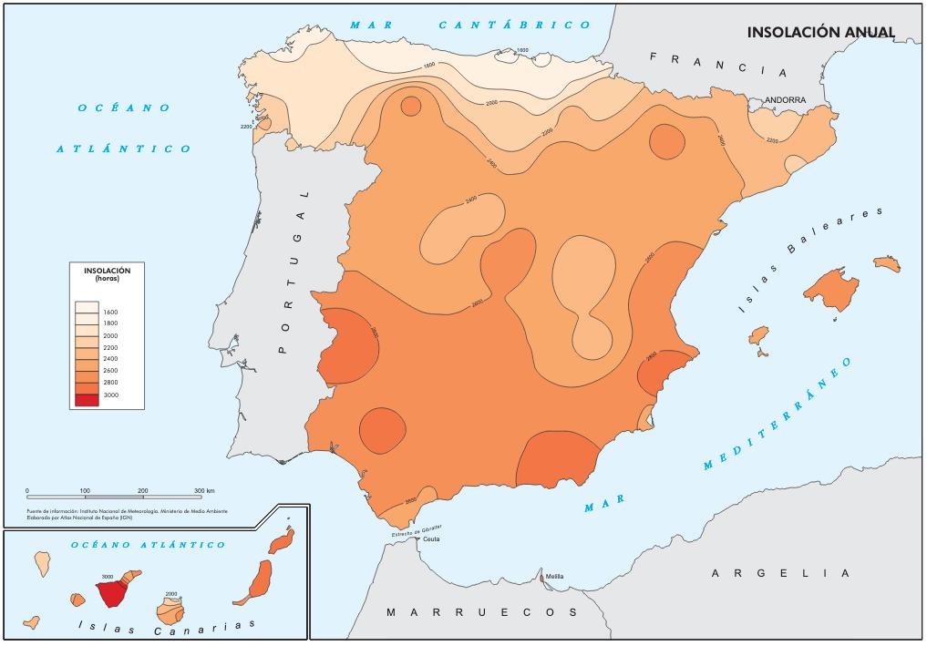 Insolación-media-anual-españa