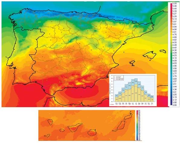 Mapa-radiación-solar-España