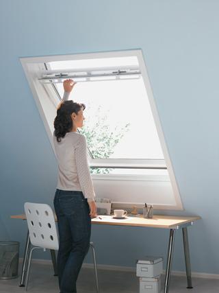 Schwingfenster im Dachbereich