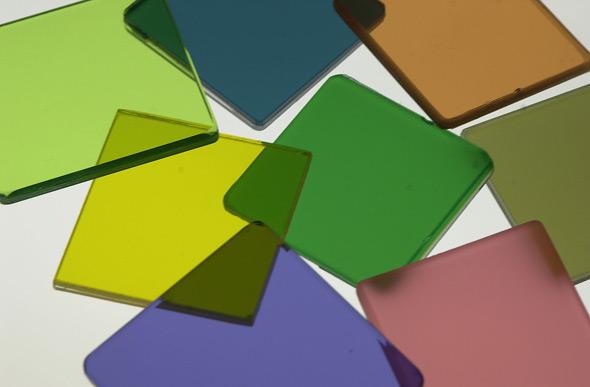 Verbundsicherheitsglas farbige Folien
