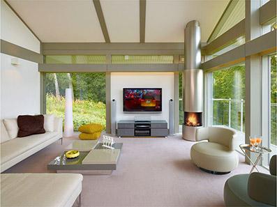 Fertighaus modern innen  Fertighaus Design - das extravagante Fertighaus