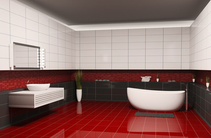 fliesen rot trendfarbe die im badezimmer akzente setzt. Black Bedroom Furniture Sets. Home Design Ideas
