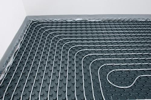 Fußbodenheizung mit Noppensystem