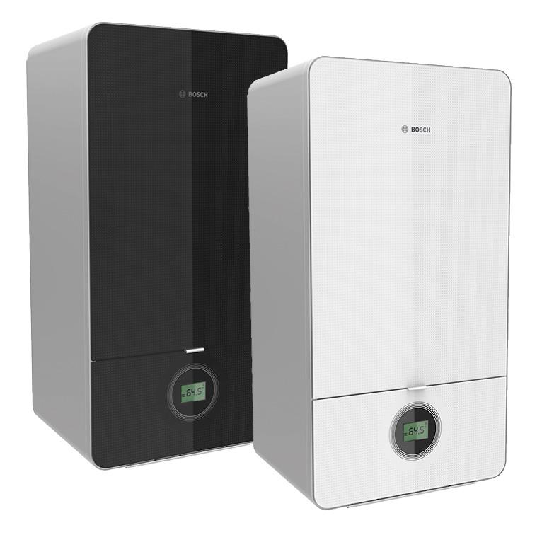 Die Gas-Brennwertgeräte Condens 7000i W von Bosch Thermotechnik sind in elegantem schwarz oder weiß erhältlich.