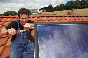 Gas-Hybrid-Heizung mit Solarthermie