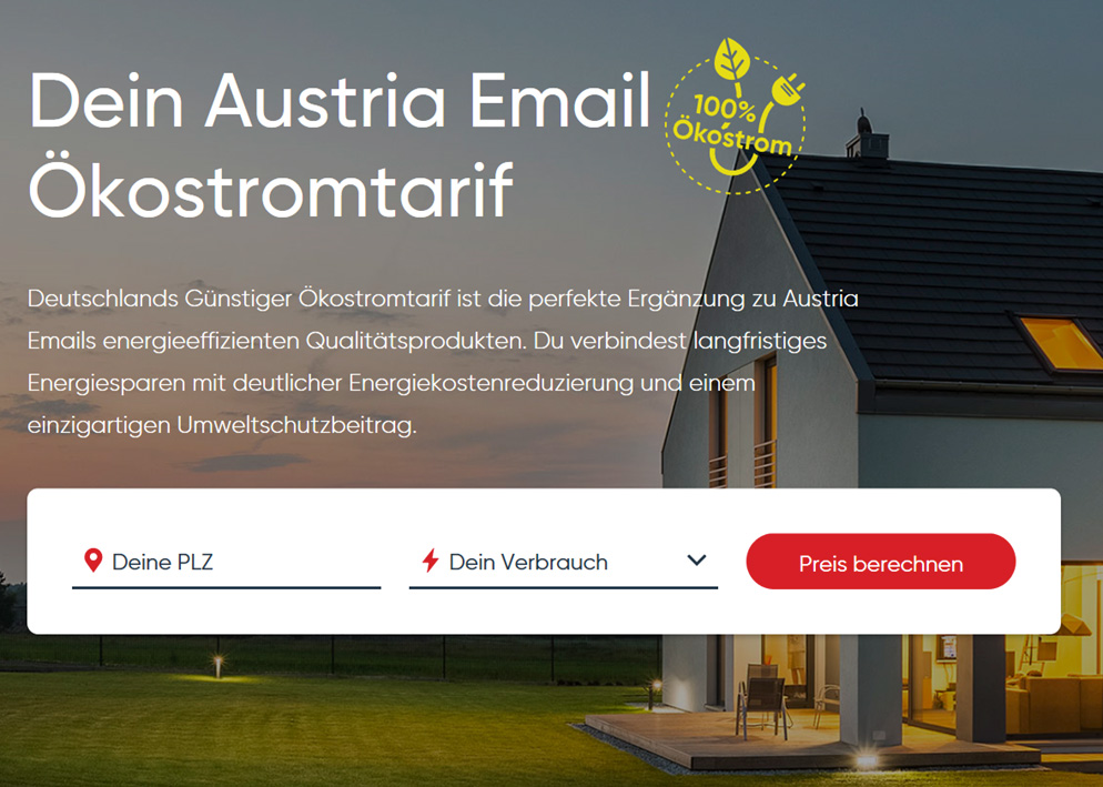 Austria Email Ökostromtarif