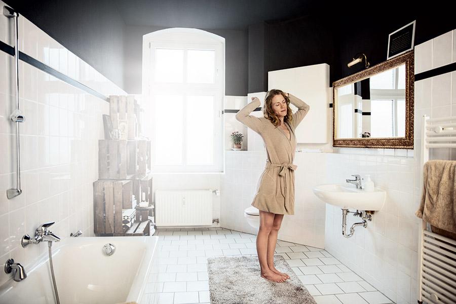 Smarte Heizkörperthermostate sorgen für Komfort und Wohlbefinden im Badezimmer.