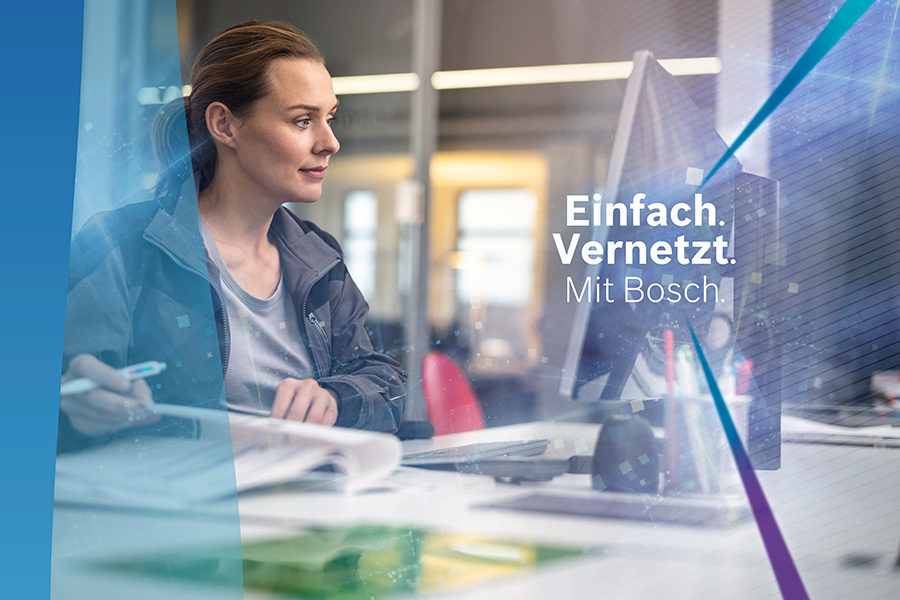 Fachpartner erhalten auf der ISH Energy in Frankfurt auf insgesamt 1600 Quadratmetern und damit am bisher größten Stand von Bosch Einblicke in die innovative, digitale Produkt- und Servicewelt.
