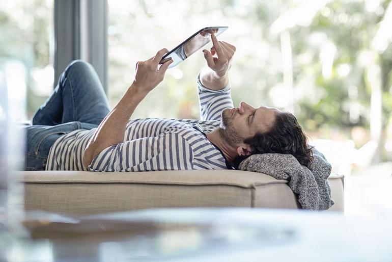 Mit Bosch HomeCom lässt sich die eigene Heizung bequem per Tablet steuern