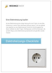 Elektroheizung Checkliste