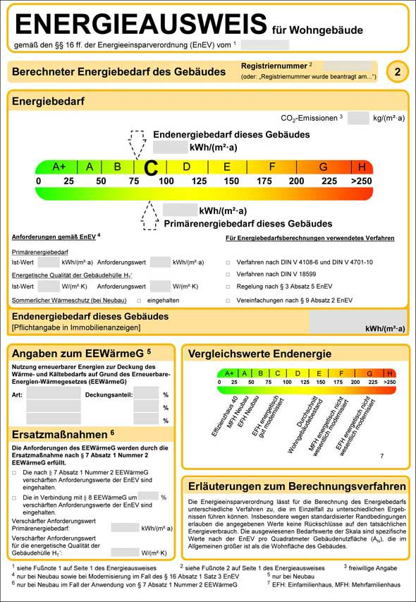 Energieausweis 2014 - Muster