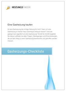 Gasheizung Checkliste
