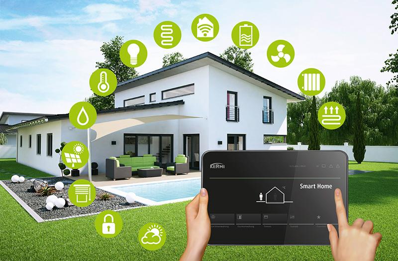 Diverse Haustechnik Systeme lassen sich mit Kermi Smart Home zentral steuern