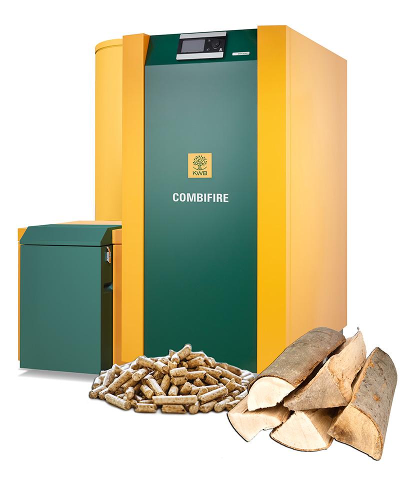 KWB Combifire Kessel für Scheitholz und Pellets