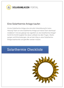 Solarthermie Checkliste