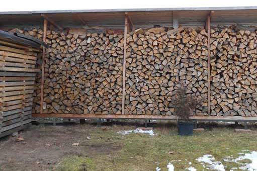 Brennholzlager für Kaminofen