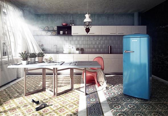 Amerikanischer Kühlschrank Gorenje : Stilfrage design kühlschrank: retro oder edelstahl
