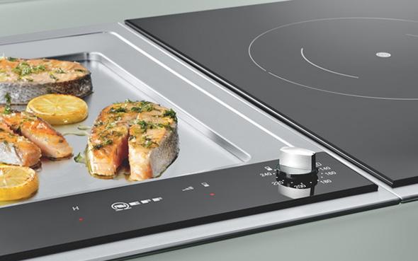 moderne kochfelder teppanyaki jap grillplatte