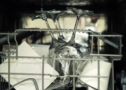 Wasserverbrauch einer Spülmaschine
