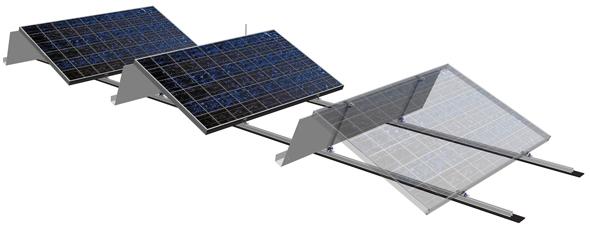 Aufständerung Photovoltaik Flachdach