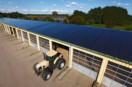 Avancis Solar Module für eine Großanlage