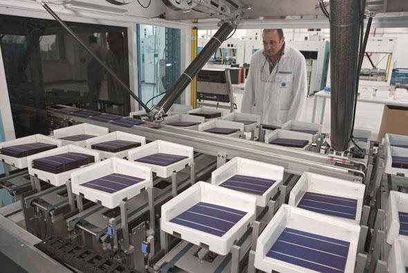 Conergy Module in der Produktion