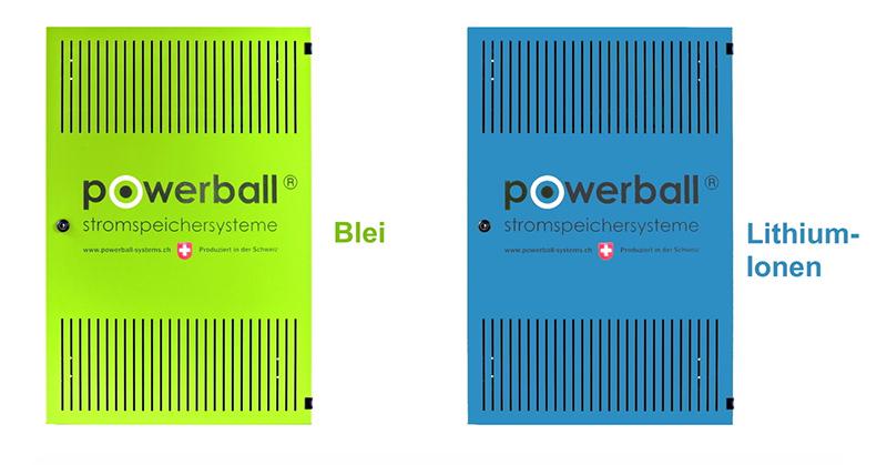 Blei- und Lithium-Ionen Speichertechnologie von Powerball