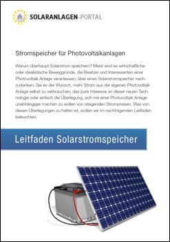 Leitfaden Solarstromspeicher herunterladen
