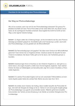Photovoltaik Checkliste herunterladen