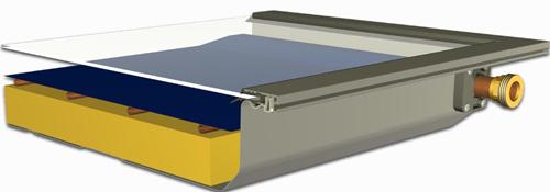 Solarabsorber im Flachkollektor