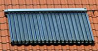 Kollektoren der Solarheizung, Solarthermie, solarthermische Anlage