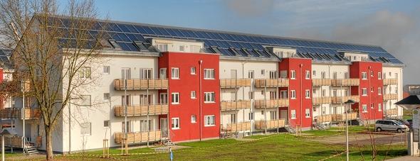 Solarthermie Siedlung
