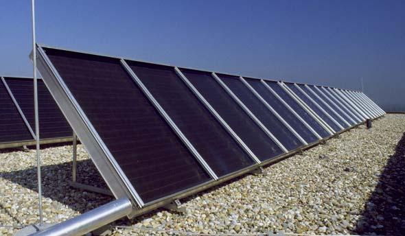 Solarthermie Flachdach