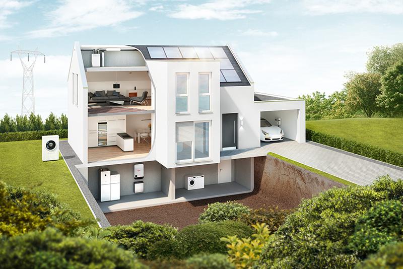 Das energetische vernetze Zuhause, wie Bosch es heute schon anbietet.