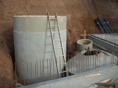 Einbau Eisspeicher Wärmepumpe