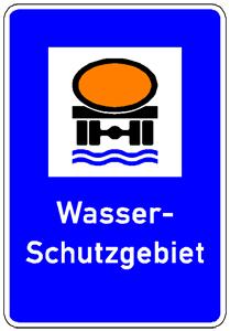 Verkehrszeichen Wasserschutzgebiet