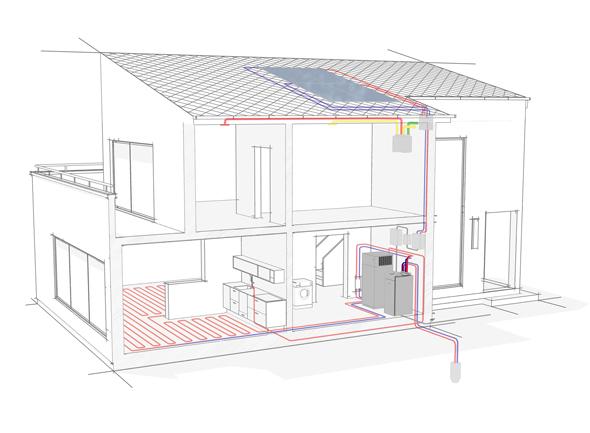 w rmepumpe mit photovoltaik betreiben niedrigenergiehaus erreichen. Black Bedroom Furniture Sets. Home Design Ideas