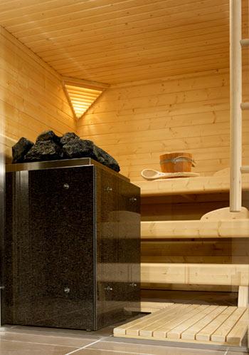 Das Herzstück jeder Sauna: ein funktionaler und formschöner Saunaofen